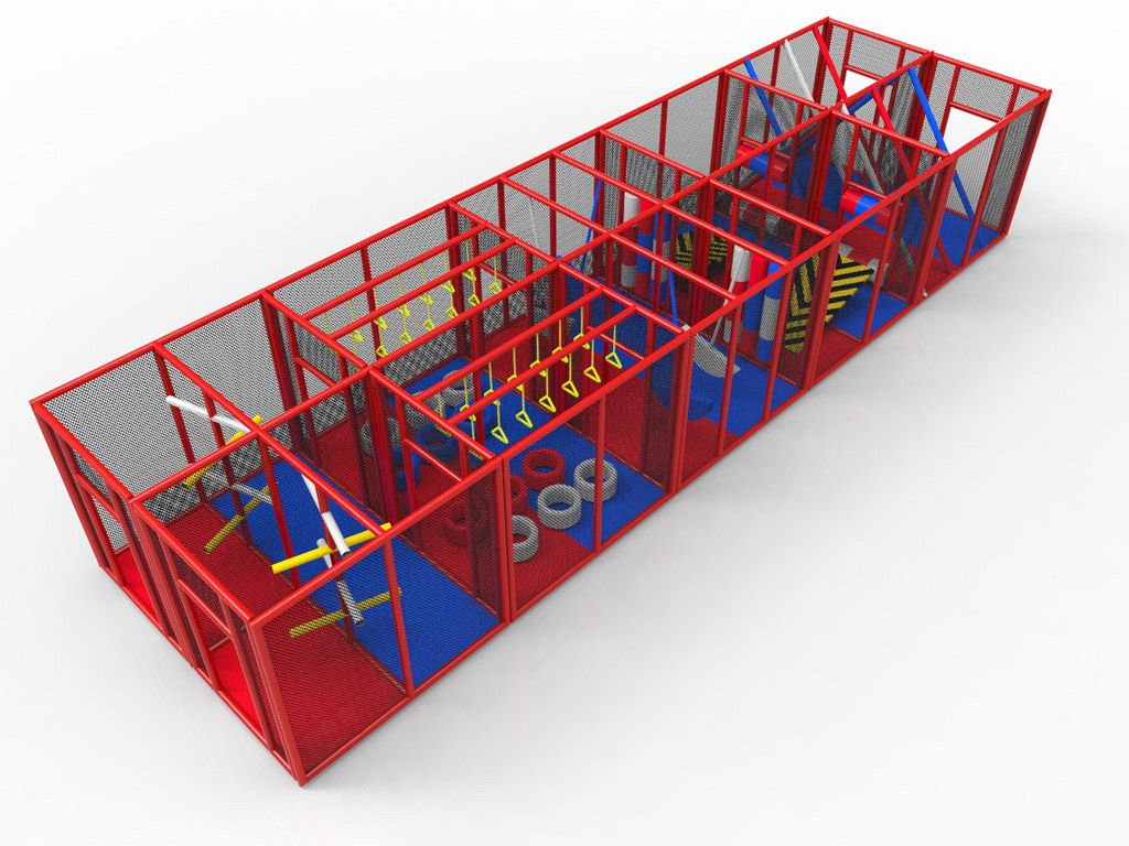 Outdoor Playground double Obstacle Ninja Course