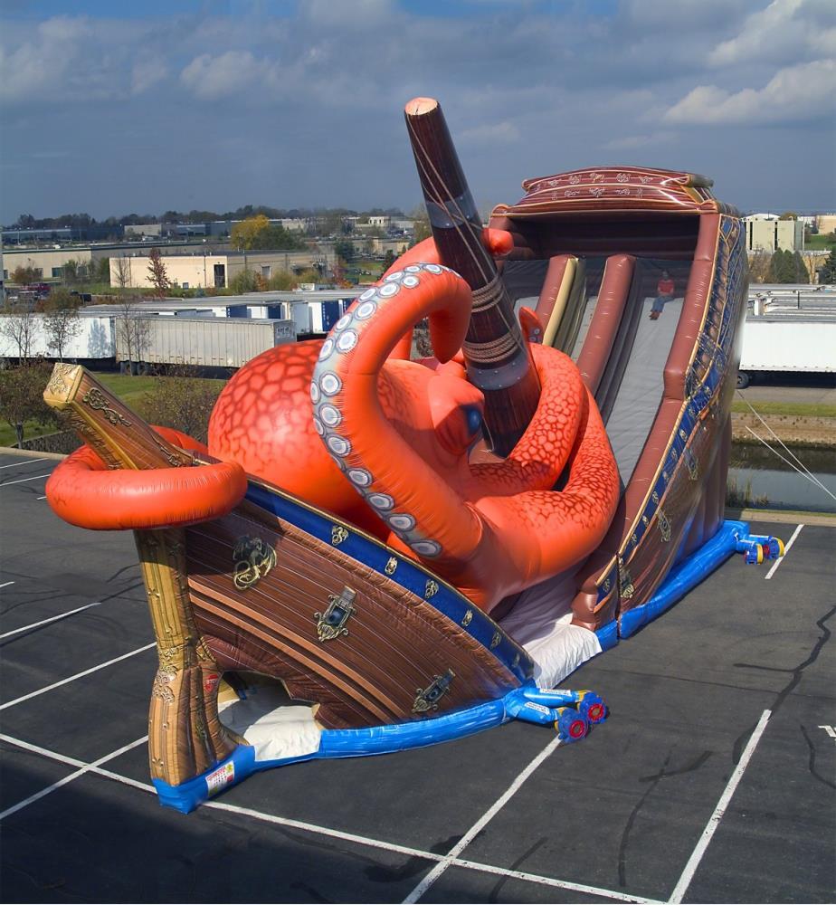 Inflatable Kraken Slide: Inflatables, Game, Slides, Kraken (28