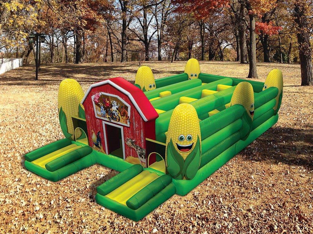 Corn Maze Obstacle Course/Inflatables
