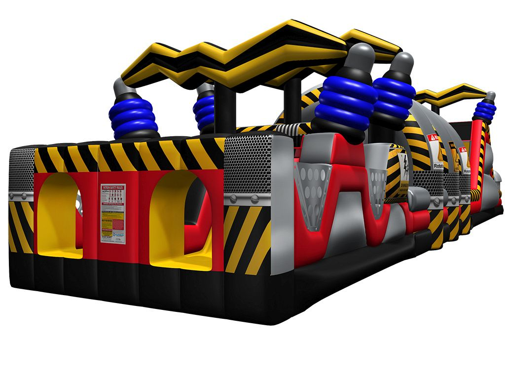 Gonfiabile Gioco Scivolo High Voltage™ A/C Obstacle Course