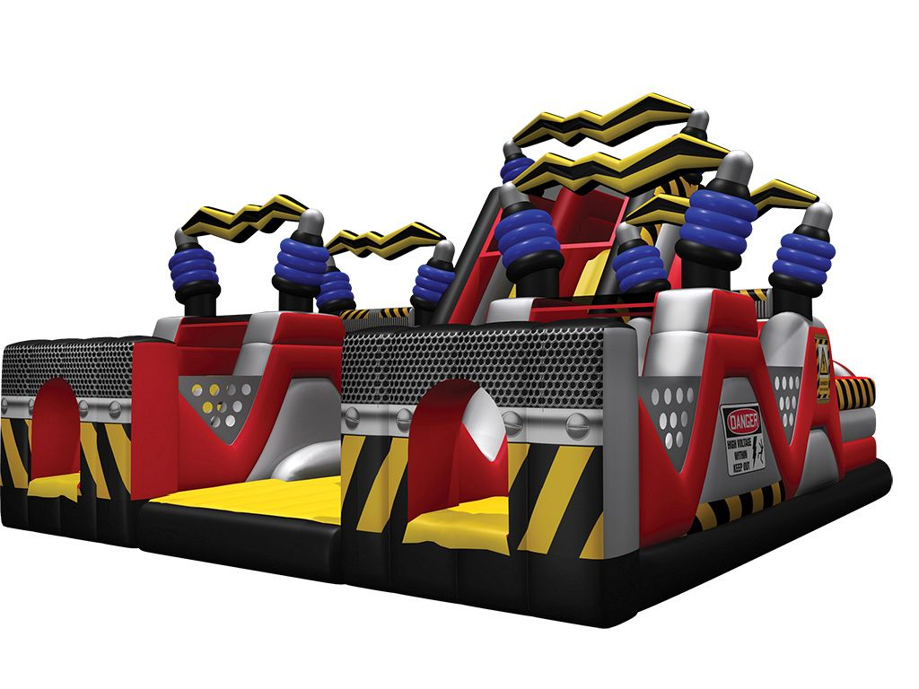 Gonfiabile Gioco Scivolo High Voltage™ Chaos Obstacle