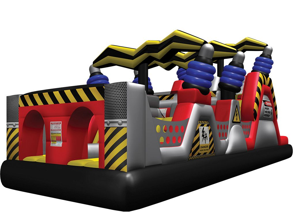 High Voltage™ Jr. Obstacle Course Inflatables - Used - Available from end of  September