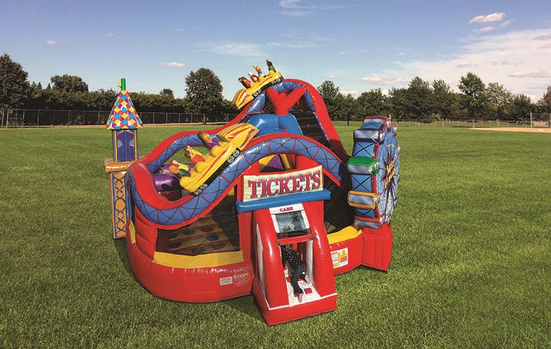 Midway KidZone™ Wet/Dry Combo Bouncers Inflatable - Used 4 months - Available from end of September