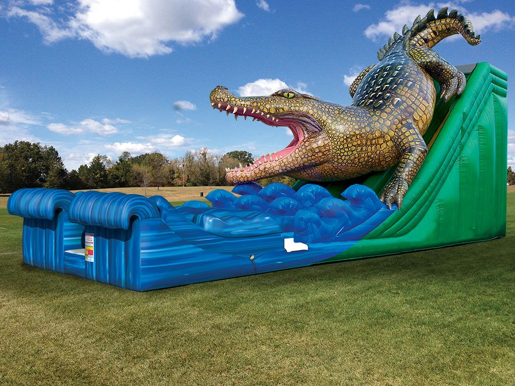 King Croc™ Wet/Dry Slide (20') Inflatables