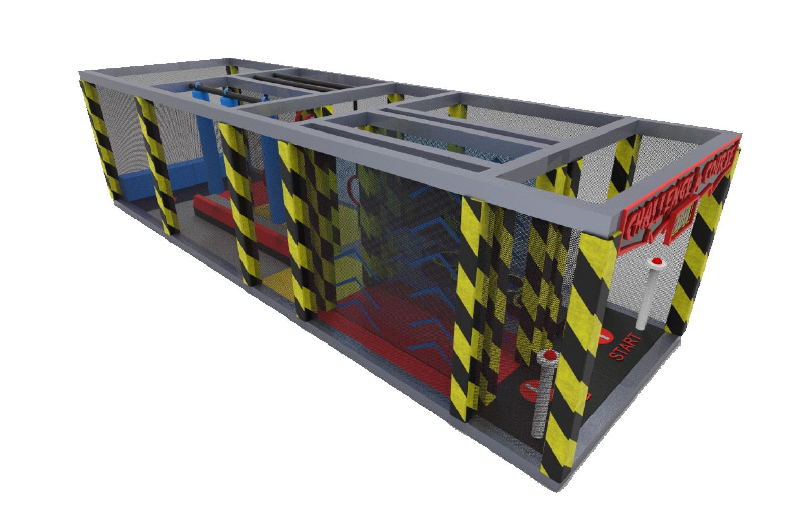 Indoor Playground Obstacle Playground Ninja Course