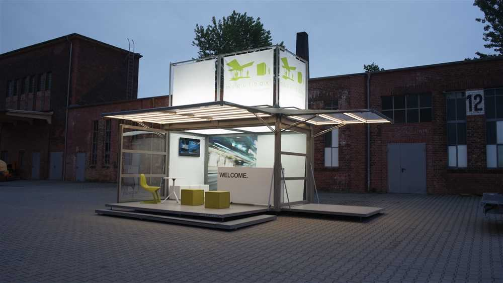 modulbox, modulbox-max, container for events, promotional stand, promotional booth, 3e60events, container for road shows, stand road show, stand for events, design stand, road show structure, tour structure